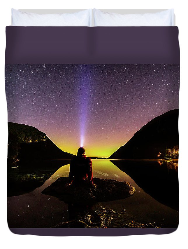 Aurora Duvet Cover featuring the photograph Aurora Chasing by Tim Kirchoff