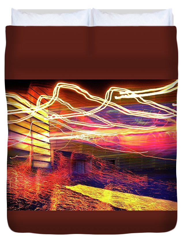Aurora Duvet Cover featuring the photograph Aurora by Skip Hunt