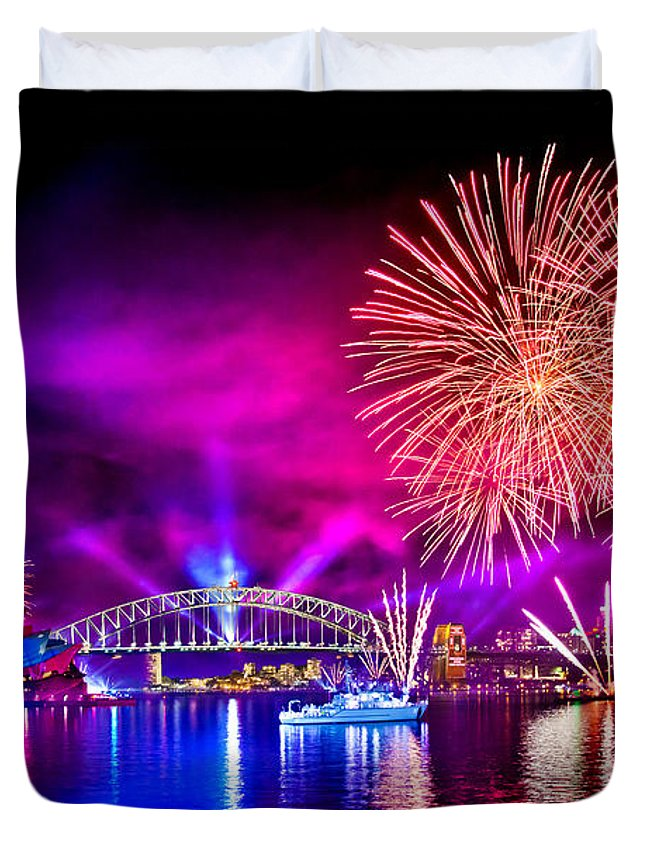 Sydney Duvet Cover featuring the photograph Aussie Celebrations by Az Jackson