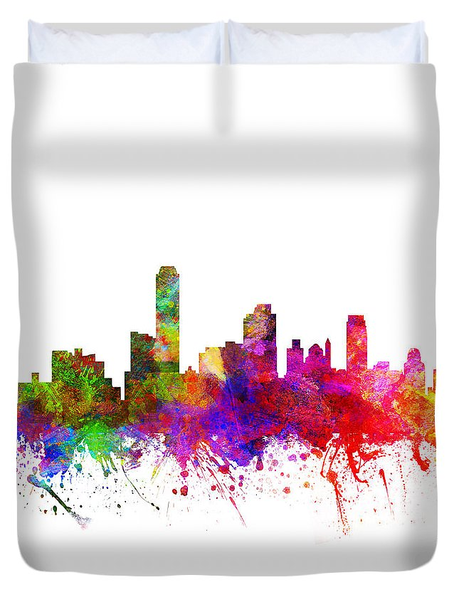 Adelaide Duvet Cover featuring the drawing Australia Australia Cityscape 02 by Aged Pixel