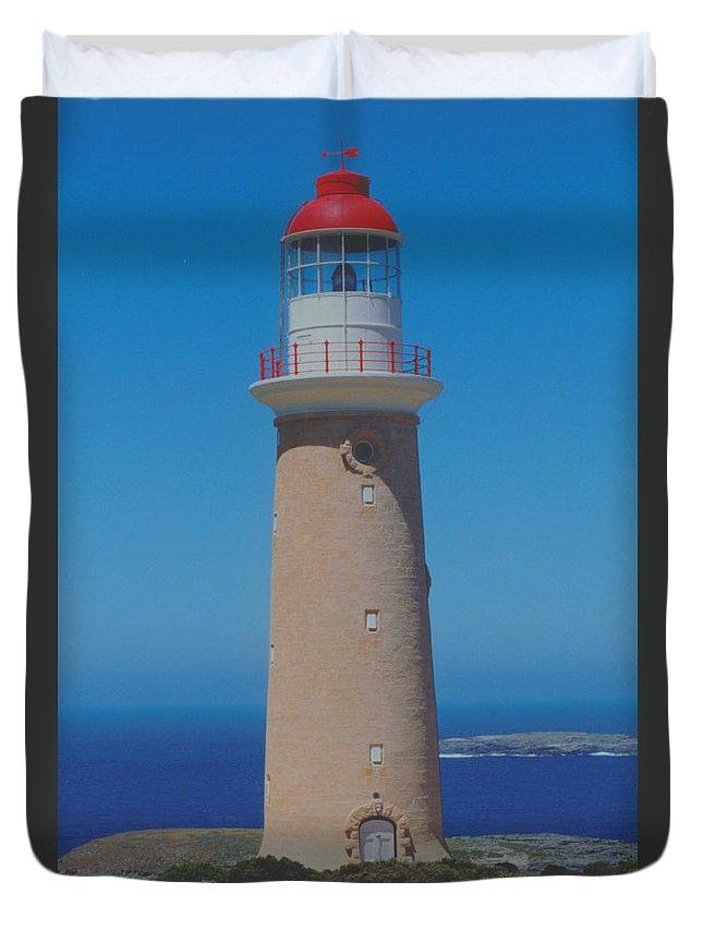 Cape Du Coedic Duvet Cover featuring the photograph Australia Cape Du Coedic Light by Ron Swonger