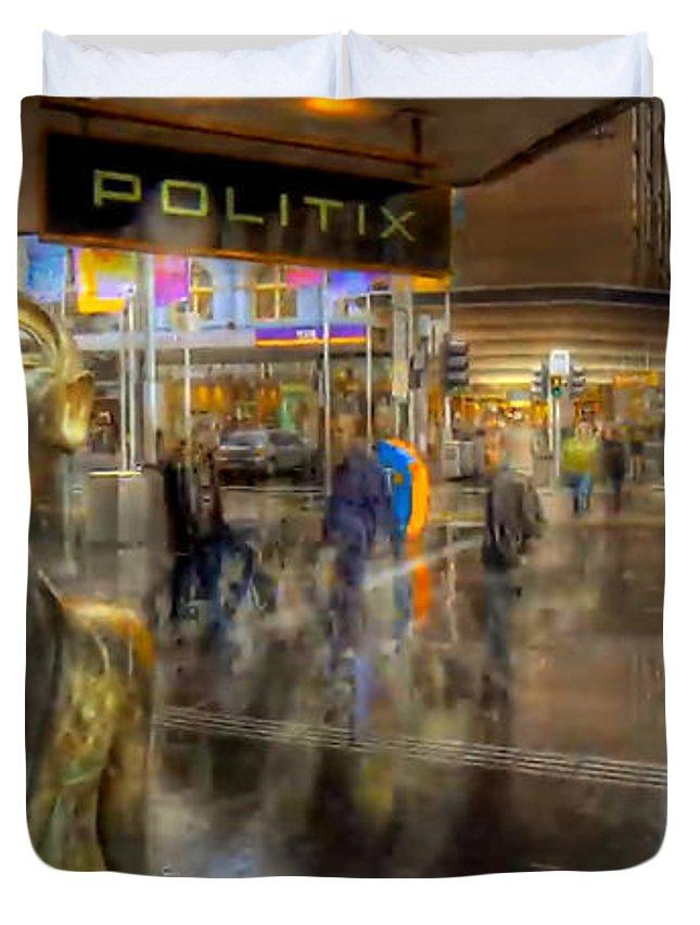 Duvet Cover featuring the digital art Australia Melbourne Part5 by Caroline Peklivana