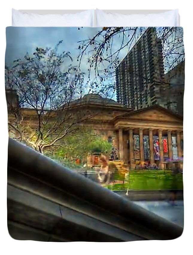 Duvet Cover featuring the digital art Australia Melbourne Part7 by Caroline Peklivana