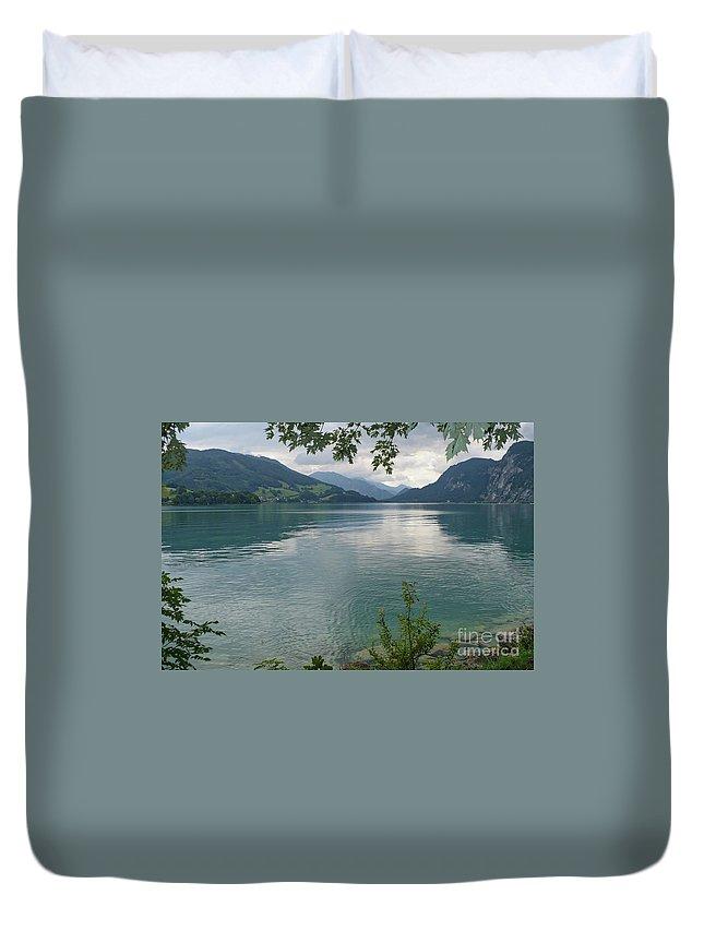 Austria Duvet Cover featuring the photograph Austrian Lake by Carol Groenen