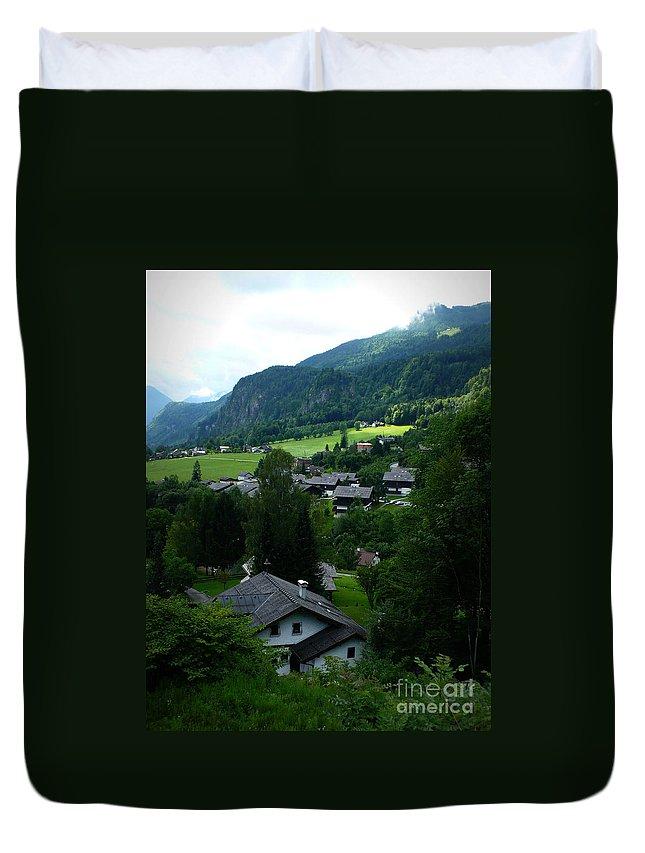 Austria Duvet Cover featuring the photograph Austrian Landscape by Carol Groenen