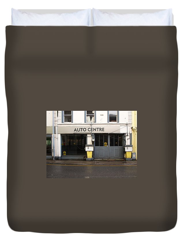 Auto Duvet Cover featuring the photograph Auto Centre by Tim Nyberg