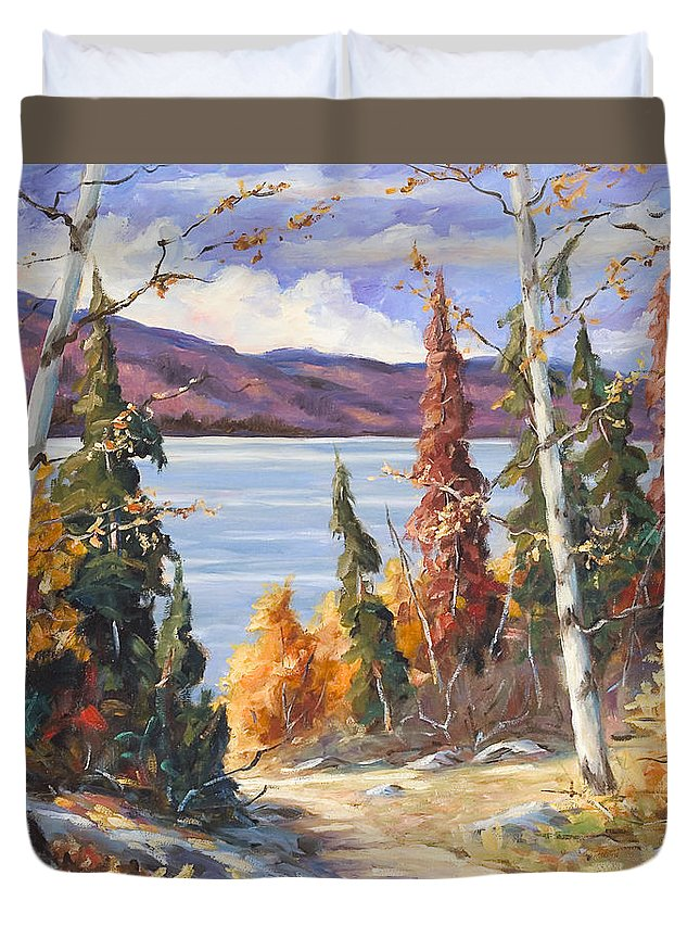 Art Duvet Cover featuring the painting Automn Colors by Richard T Pranke