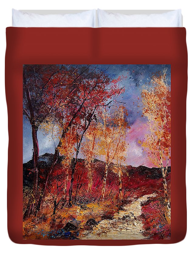 Tree Duvet Cover featuring the painting Autumn 6712545 by Pol Ledent