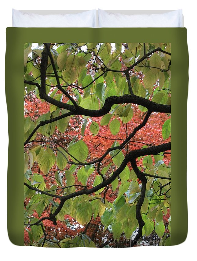 Fall Duvet Cover featuring the photograph Autumn 7 by Carol Groenen