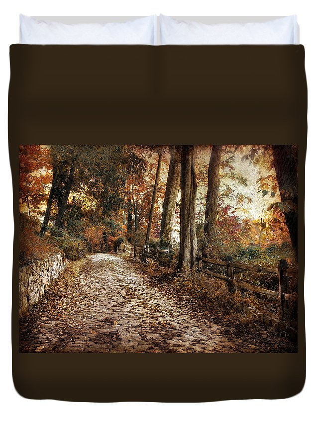 Autumn Duvet Cover featuring the photograph Autumn Ascending by Jessica Jenney
