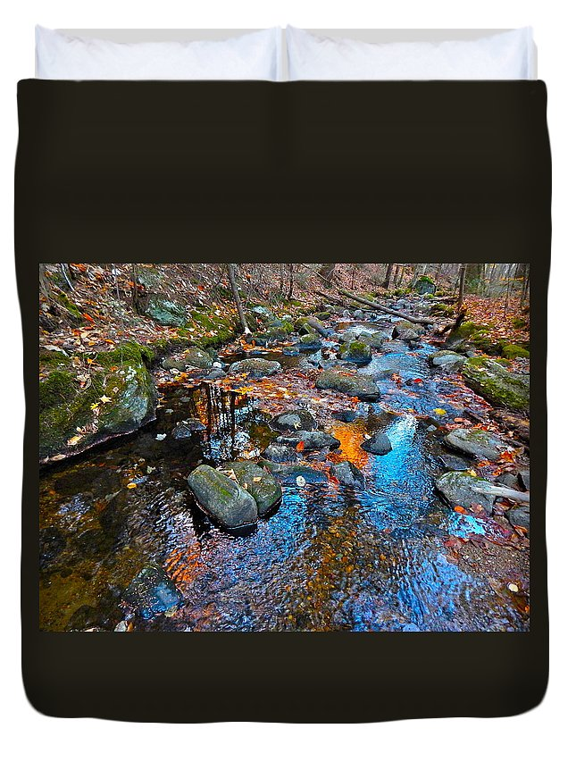 Autumn Landscape Duvet Cover featuring the photograph Autumn B 2015 113 by George Ramos