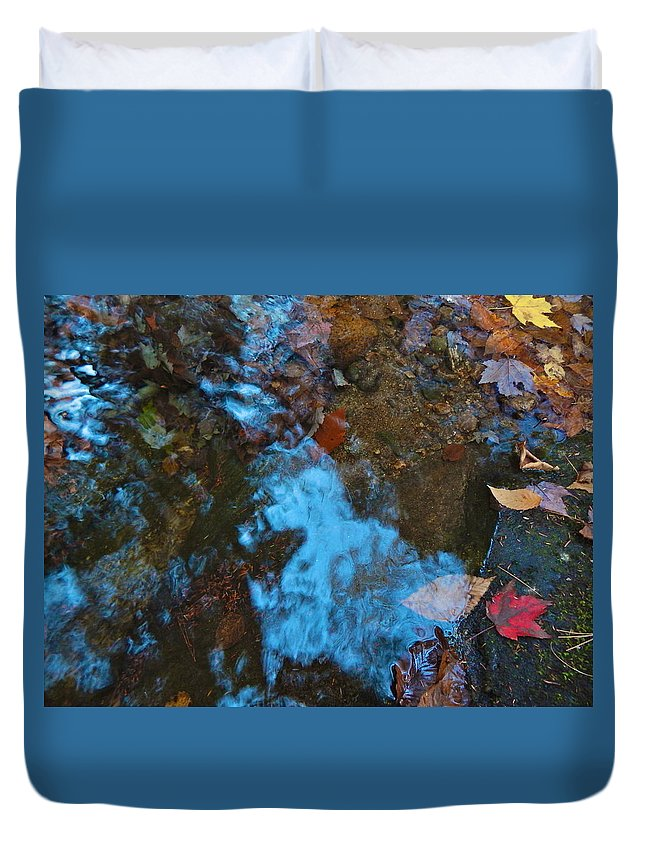 Autumn Landscape Duvet Cover featuring the photograph Autumn B 2015 130 by George Ramos