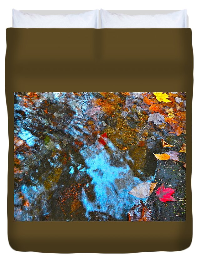 Autumn Landscape Duvet Cover featuring the photograph Autumn B 2015 132 by George Ramos