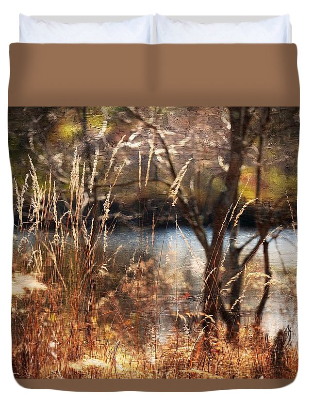 Field Duvet Cover featuring the photograph Autumn Colors 30 by Scott Fracasso