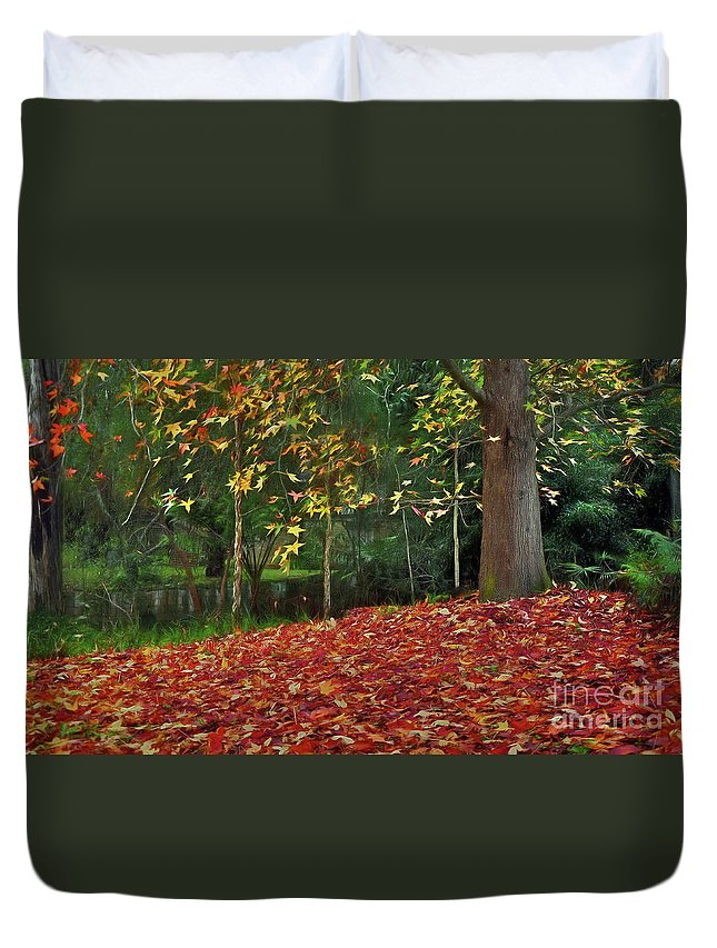 Autumn Colors Duvet Cover featuring the photograph Autumn Colors by Kaye Menner