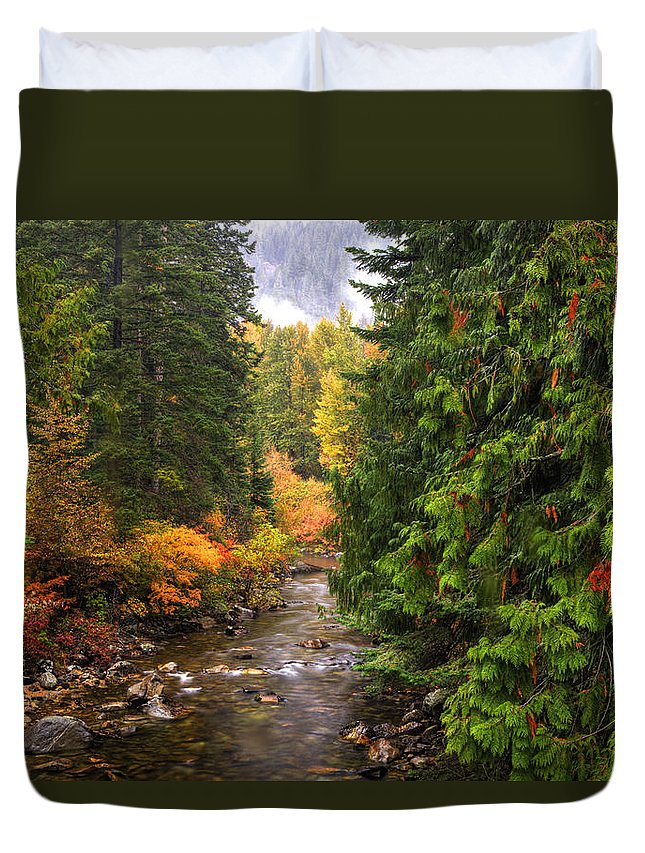 Autumn Duvet Cover featuring the photograph Autumn Creations by Eggers Photography