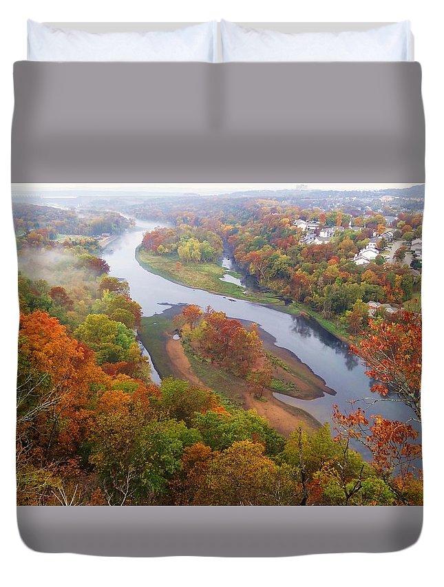 Autumn Duvet Cover featuring the photograph Autumn Down Below by Dennis Nelson