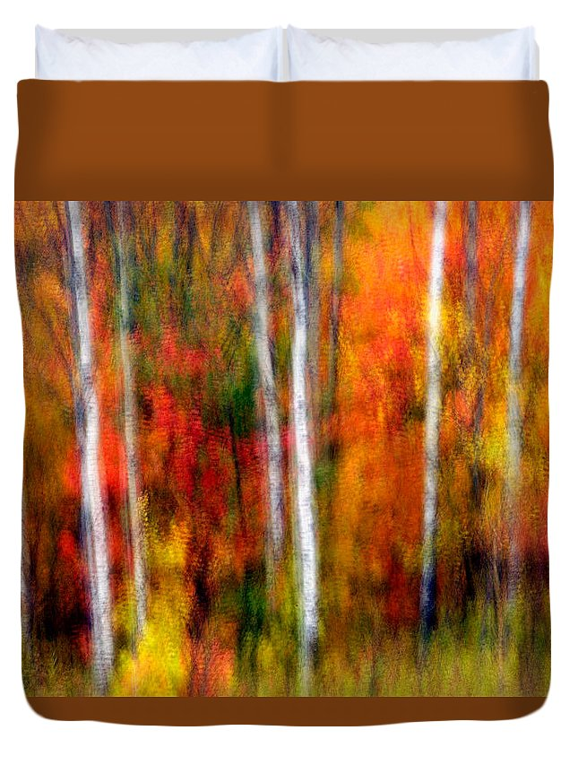 Canada Duvet Cover featuring the photograph Autumn Dreams by Doug Gibbons