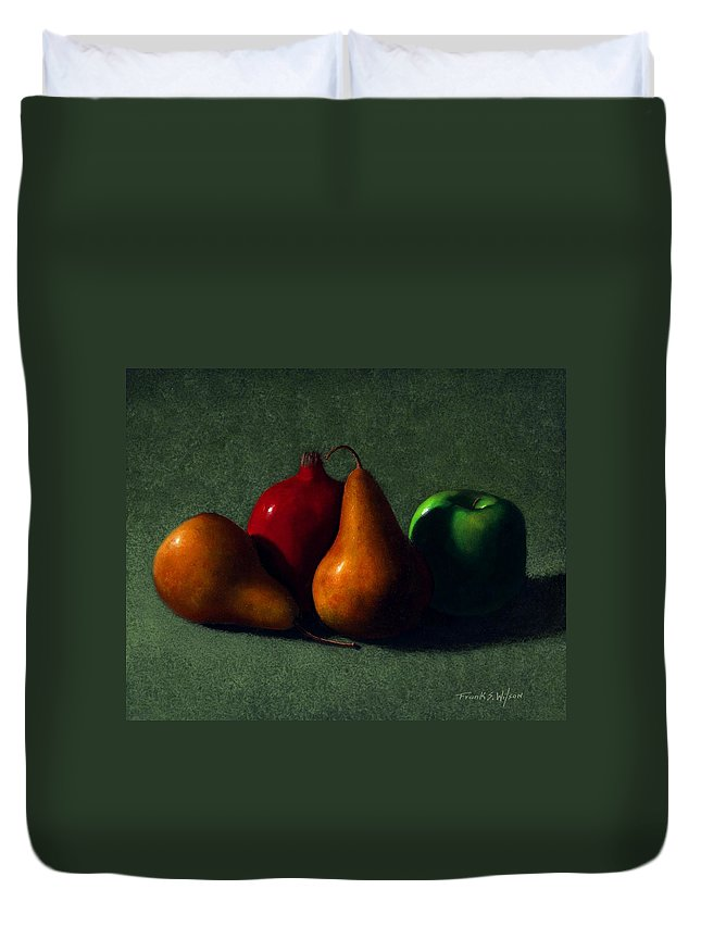 Still Life Duvet Cover featuring the painting Autumn Fruit by Frank Wilson