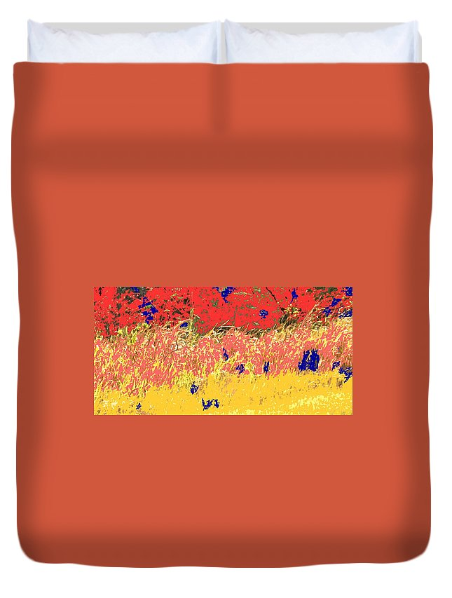 Autumn Duvet Cover featuring the photograph Autumn Grasses by Ian MacDonald