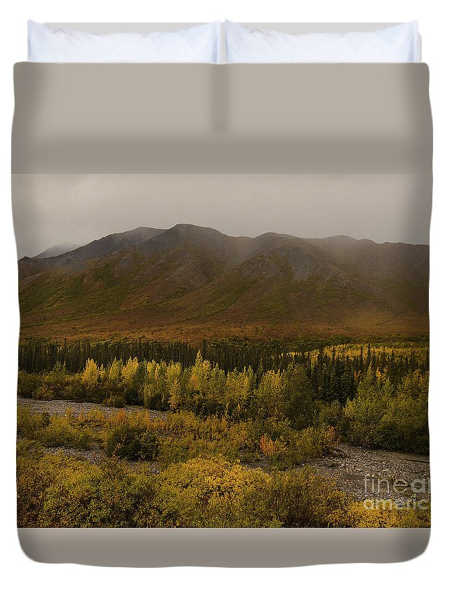 Autumn In August Brooks Range Alaska Duvet Cover featuring the photograph Autumn In August Brooks Range Alaska by Teresa A and Preston S Cole Photography