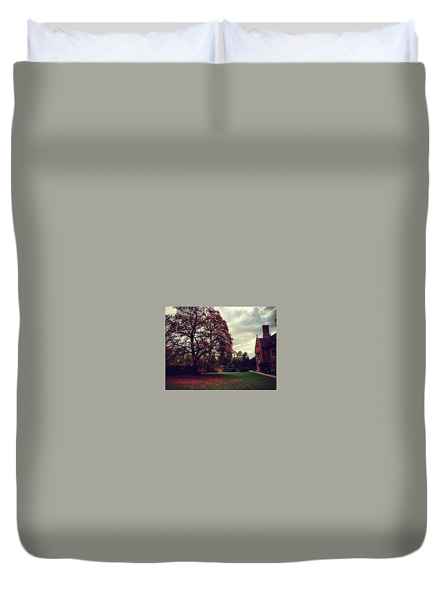 Autumn Duvet Cover featuring the photograph Autumn In Cambridge by Rossana Azzoni
