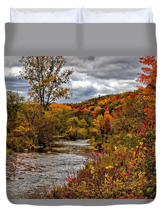 Autumn Duvet Cover featuring the photograph Autumn In The City by Phill Doherty