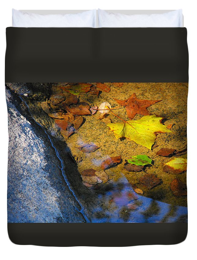 Autumn Duvet Cover featuring the photograph Autumn Jewels by Catherine Sprague