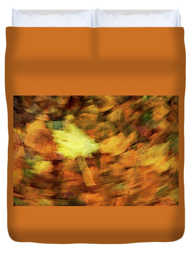 Autumn Duvet Cover featuring the photograph Autumn Leaves by Michael Mogensen