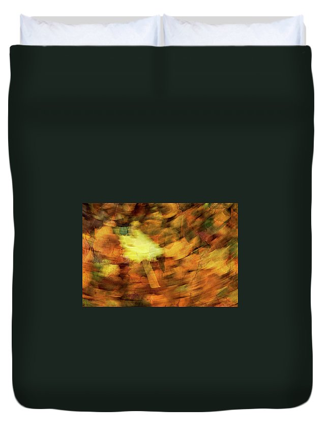 Leaves Duvet Cover featuring the photograph Autumn Leaves by Michael Mogensen
