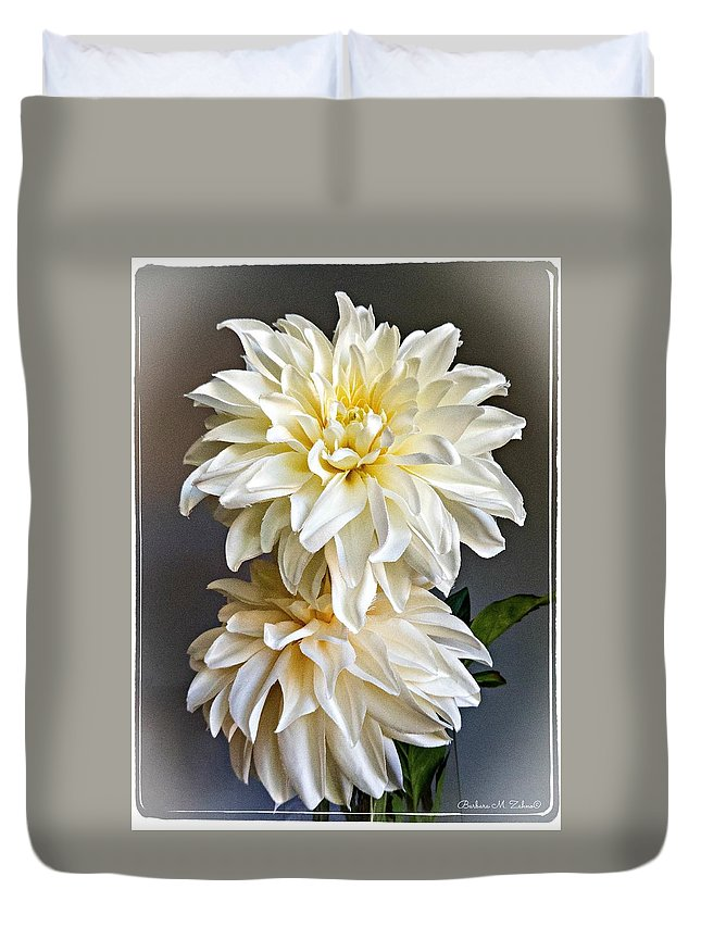 Flowers Duvet Cover featuring the photograph Autumn Mood by Barbara Zahno