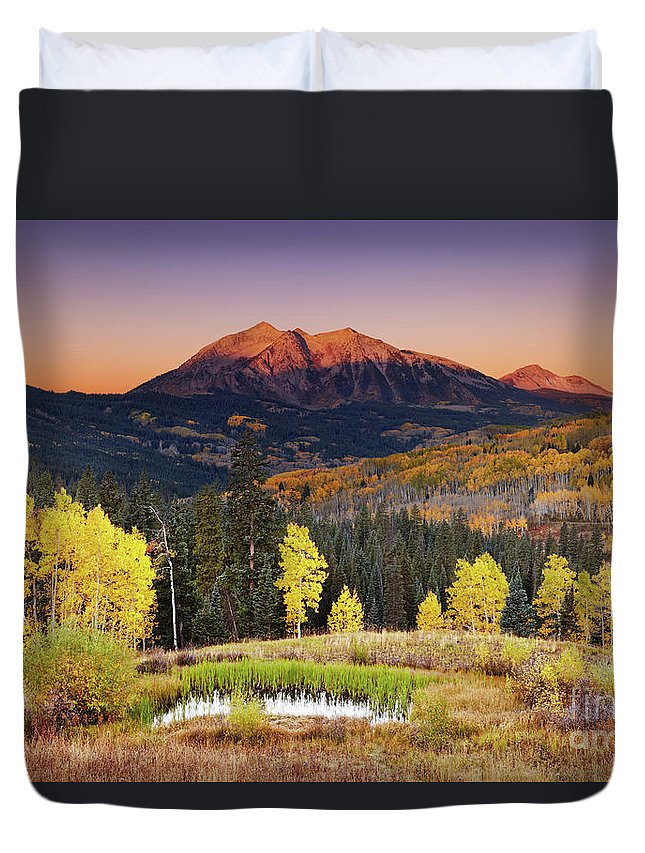 America Duvet Cover featuring the photograph Autumn Mountain Landscape, Colorado, Usa by Dmitry Pichugin