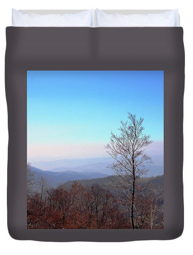 Autumn Duvet Cover featuring the photograph Autumn by Olja Simovic
