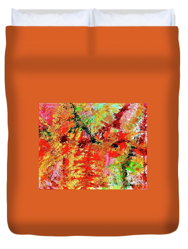 Autumn Duvet Cover featuring the painting Autumn On My Mind by Davids Digits