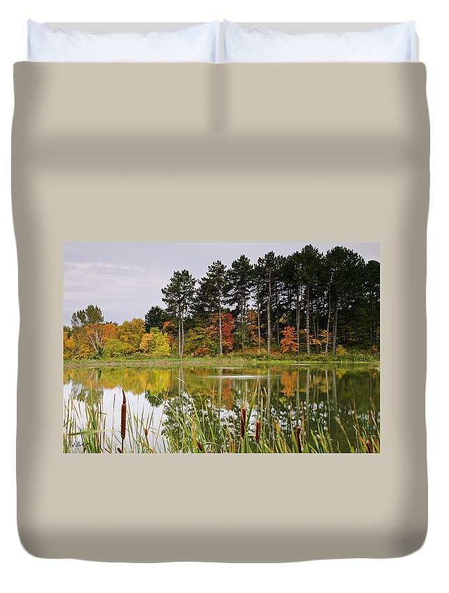 Fine Art Duvet Cover featuring the photograph Autumn Pond by Phill Doherty