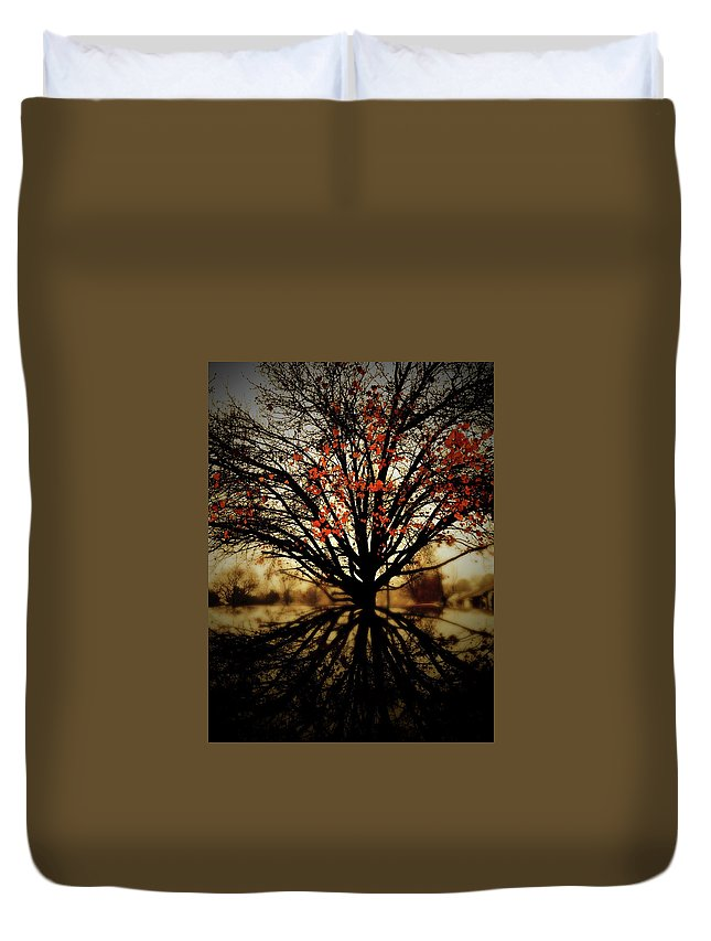 Autumn Duvet Cover featuring the photograph Autumn Reflections by MotionOne Studios