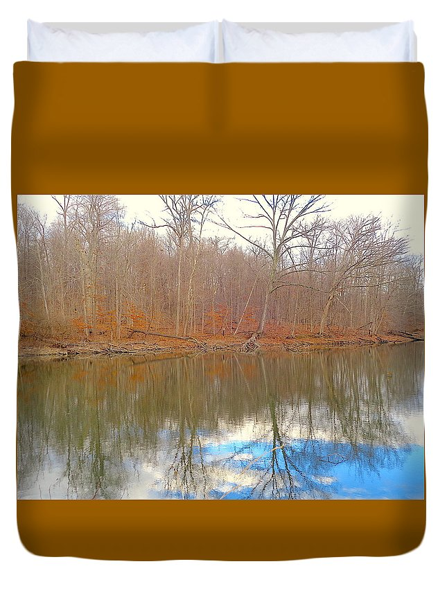 Autumn Duvet Cover featuring the photograph Autumn Reflections by Wendy Yee