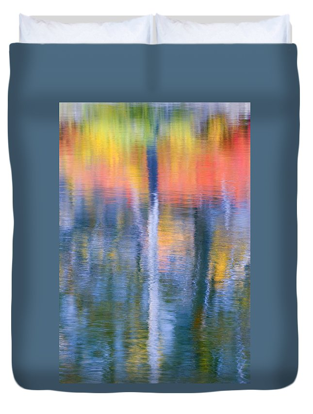 Reflection Duvet Cover featuring the photograph Autumn Resurrection by Mike Dawson