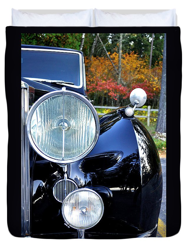 Car Duvet Cover featuring the photograph Autumn Rolls by Tim Nyberg