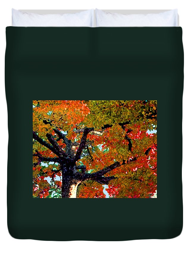 Fall Duvet Cover featuring the photograph Autumn Tree by Steve Karol