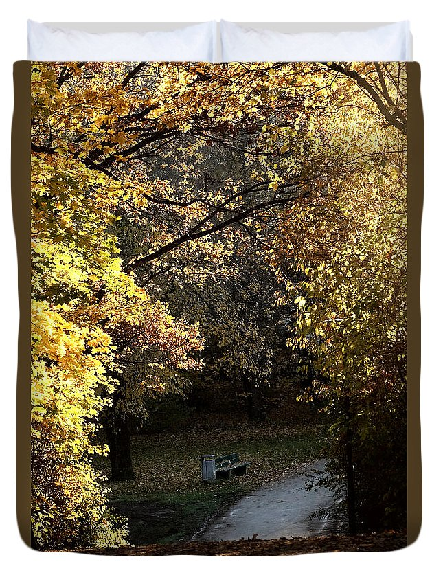 Prott Duvet Cover featuring the photograph Autumn Trees 3 by Rudi Prott