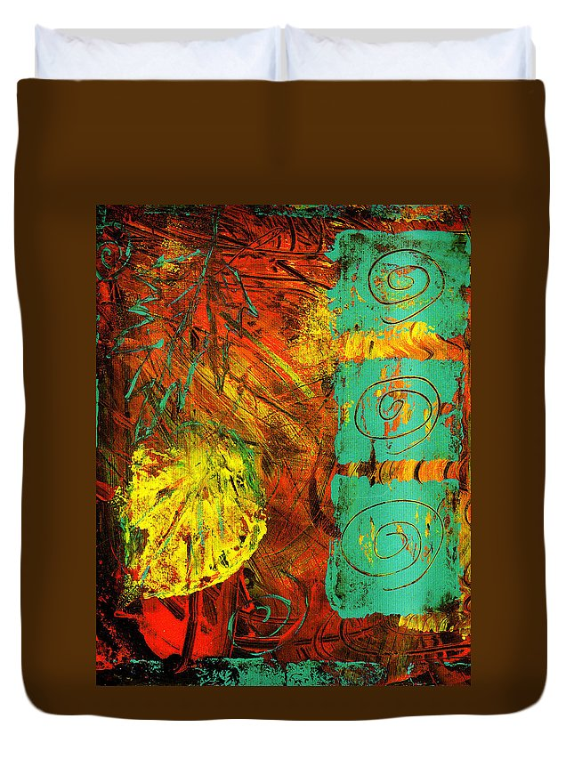 Autumn Duvet Cover featuring the painting Autumn by Wayne Potrafka