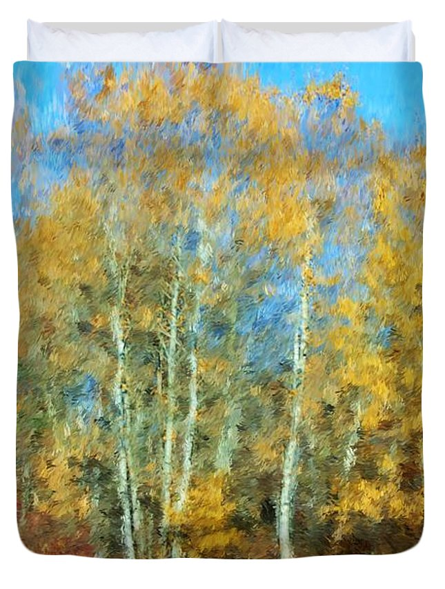 Duvet Cover featuring the photograph Autumn Woodlot by David Lane