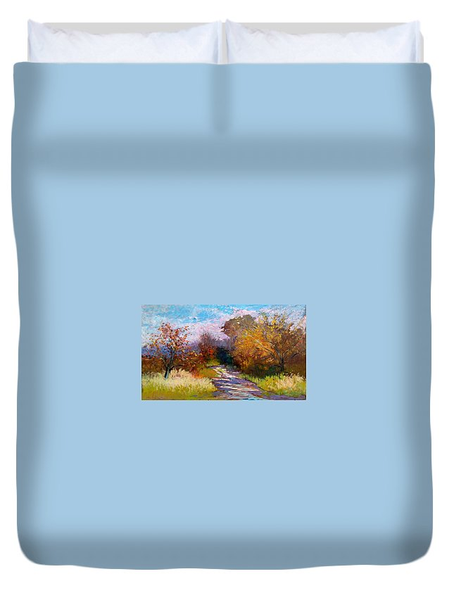 Painting Duvet Cover featuring the painting Autumn Woods by Biagio Chiesi