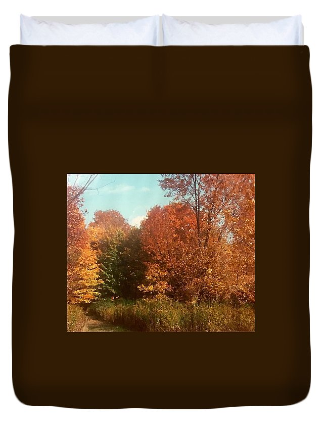 Duvet Cover featuring the photograph Autumn Woods by Jo Ann Farabee