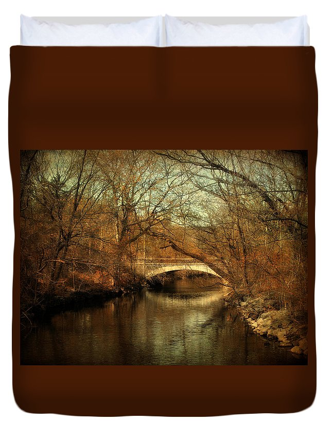 Nature Duvet Cover featuring the photograph Autumn's End by Jessica Jenney