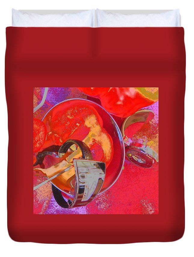 Waches Duvet Cover featuring the photograph Avant Garde Dinner by Evguenia Men