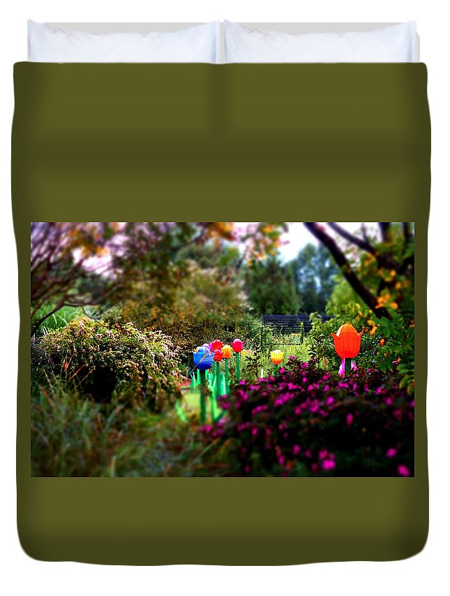 Duvet Cover featuring the photograph Avenue Of Dreams 7 by Rodney Lee Williams