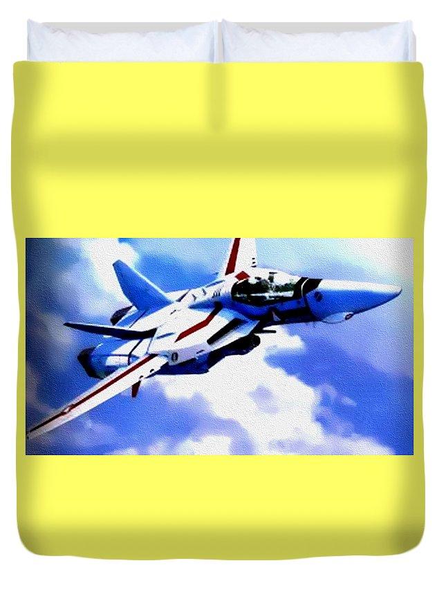 Aviation Art Duvet Cover featuring the painting Aviation Art Catus 1 No. 1 19 H B by Gert J Rheeders