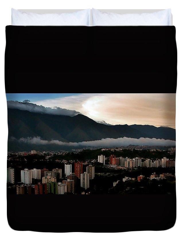 Avila Duvet Cover featuring the photograph Avila At Sundown by Bibi Rojas